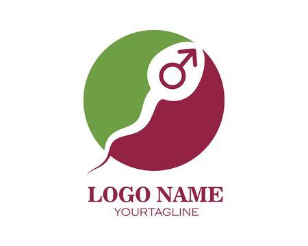sperm icon logo vector illustration design template