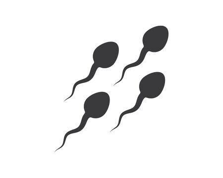 modèle de conception d'illustration vectorielle logo icône sperme