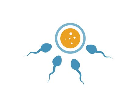 sperm icon logo vector illustration design template Stock Vector - 126471351