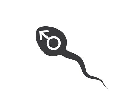 sperm icon logo vector illustration design template