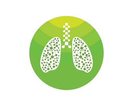 human lungs logo icon vector illustration design template Stock fotó - 126646861