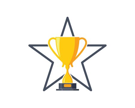 Trophy vector icon winner illustration symbol
