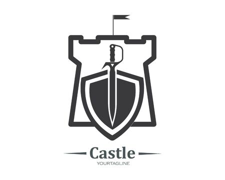 castle logo icon vector illustration design template