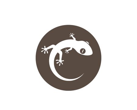 Gecko logo vector icon illustration template 向量圖像