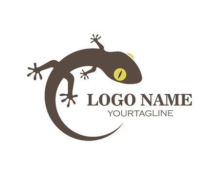 Gecko logo vector icon illustration template Vectores