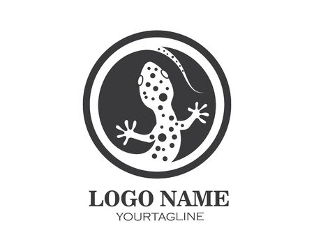 Gecko logo vector icon illustration template Illustration
