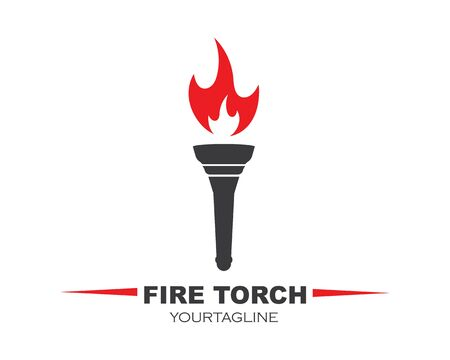 torch logo icon illustration vector design template