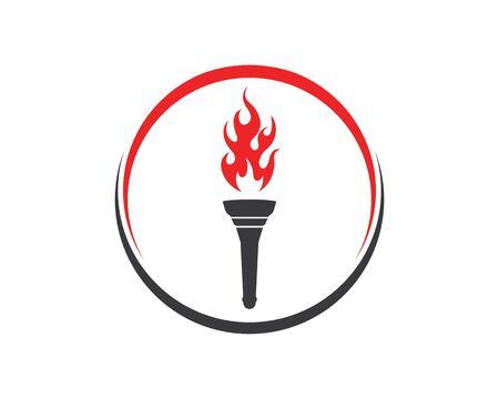 torch logo icon illustration vector design template