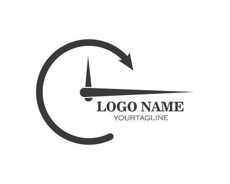 clock,time icon illustration design vector template