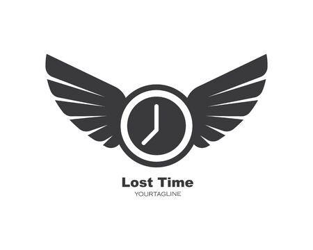 lost time  icon illustration design vector template