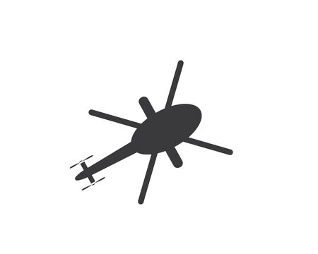 helicopter logo vector icon illustration design template Illustration
