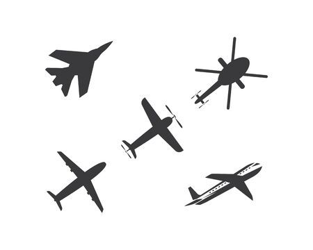 plane logo vector icon illustration design template