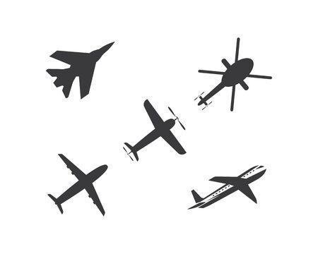 plane logo vector icon illustration design template