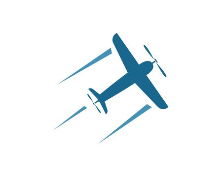 faster plane logo vector icon of delivery express illustration design template