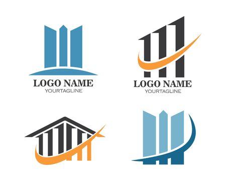 real estate building icon vector template logo illustration Illustration