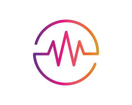 musica, equalizzatore ed effetto sonoro illustrazione logo icona vettore modello