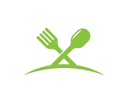 fork,spoon logo vector illustration template Illustration