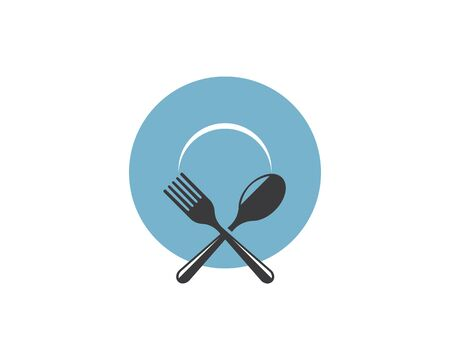fork,spoon logo vector illustration template Vettoriali