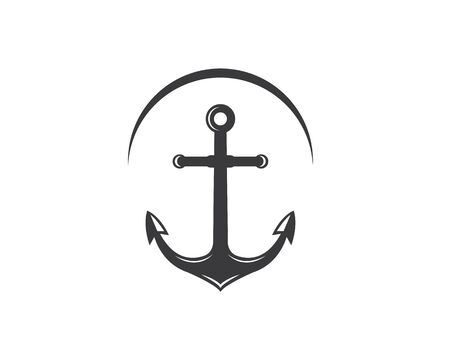 Anchor icon Logo Template vector illustration