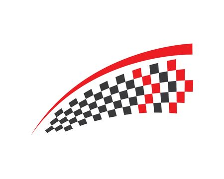 faster speed logo icon of automotive racing concept design 向量圖像