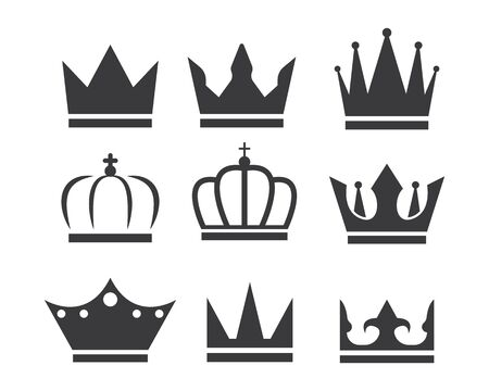 couronne royale, logo, icône, vecteur, illustration, conception