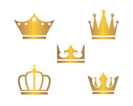 royal crown logo icon vector illustration design Illusztráció