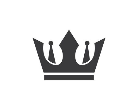 royal crown logo icon vector illustration design Иллюстрация