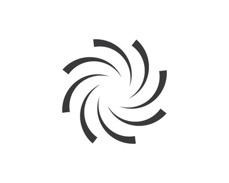 vortex logo icon wave and spiral vector template