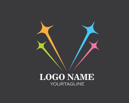 star faster express logo icon vector illustration design