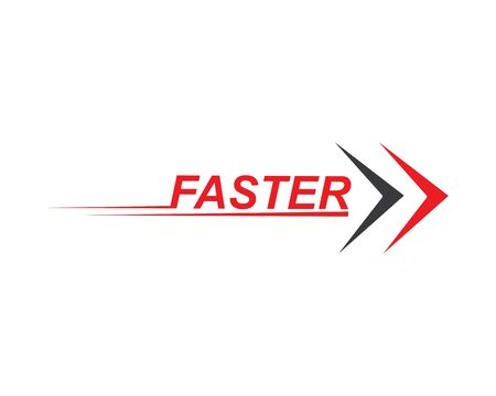 faster speed logo icon of automotive racing concept design Illustration