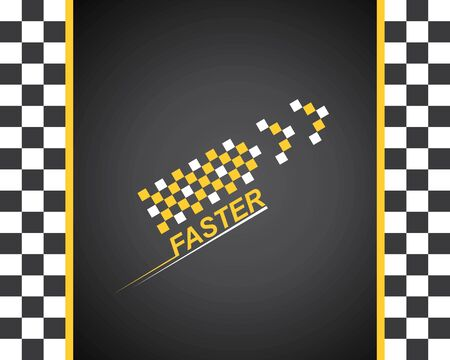 faster speed logo icon of automotive racing concept design