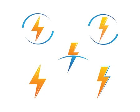 flash power thunder illustration vector template