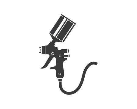 spray gun paint logo icon vector illustration design