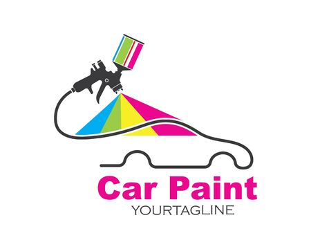 car paint logo icon illustration vector design