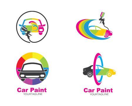 voiture peinture logo icône illustration vecteur conception