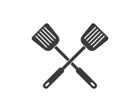 spatula logo icon of cooking and kithen vector illustration