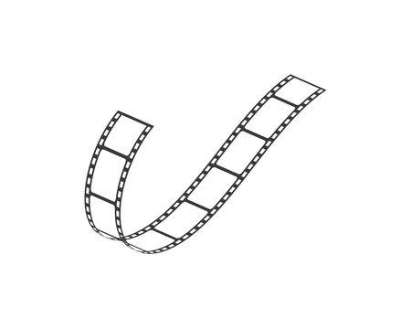 filmstrip vector illustration design  template
