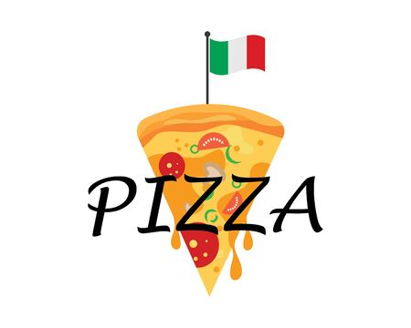 pizza icon logo illustration vector design