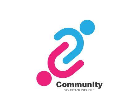 conception de vecteur d'icône de leadership, de communauté, de société et d'entreprise