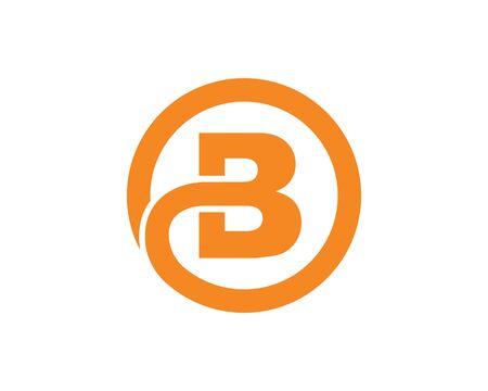B Letter Icon Design Vector Illustration Vettoriali