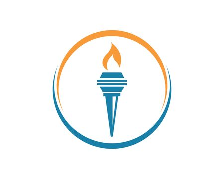 torch icon illustration vector design template Illustration