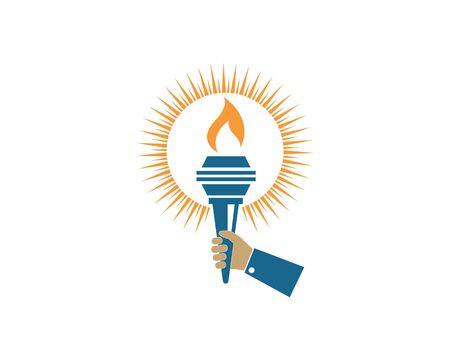 torch icon illustration vector design template Illustration