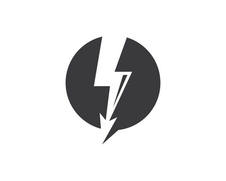 flash thunder bolt illustration vector template Ilustrace