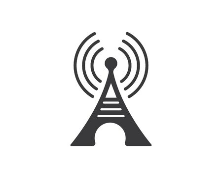 tower signal icon vector illustration design