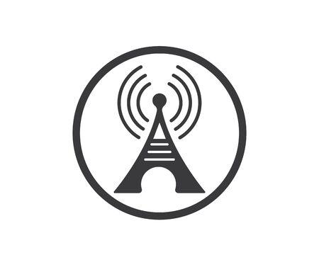 L'icône du signal de la tour design d'illustration vectorielle Vecteurs