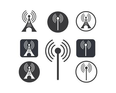 tower signal logo icon vector illustration design