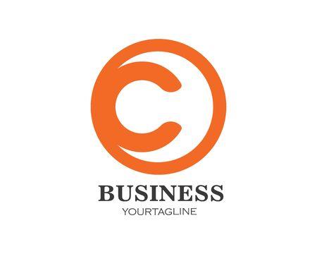 c Letter Logo Business Template Vector icon Ilustração