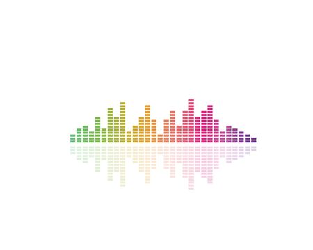 equaizer and sound effect ilustration logo vector icon template