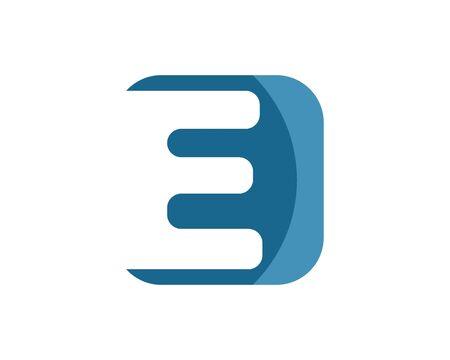 Diseño de vector de ilustración de icono de logotipo de letra e