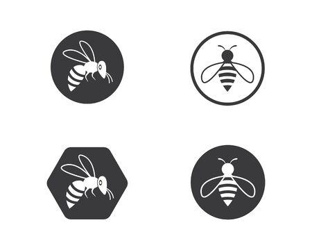 honey Bee Logo Template vector icon illustration design